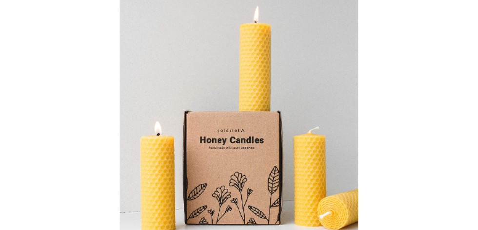 Beeswax candles gift set