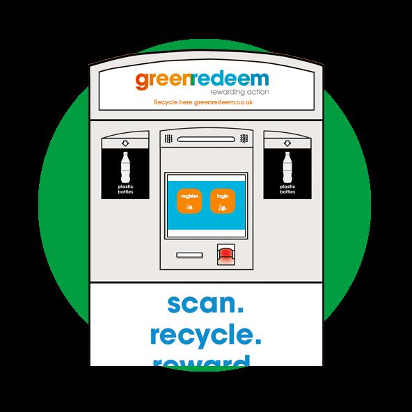 On the go recycling kiosk