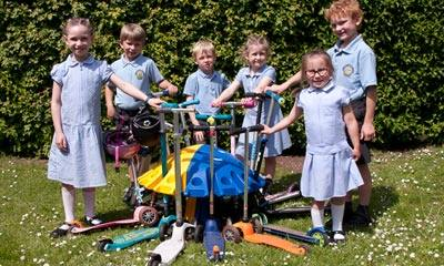 The Robert Piggott C of E School reap the benefits of Recycling!