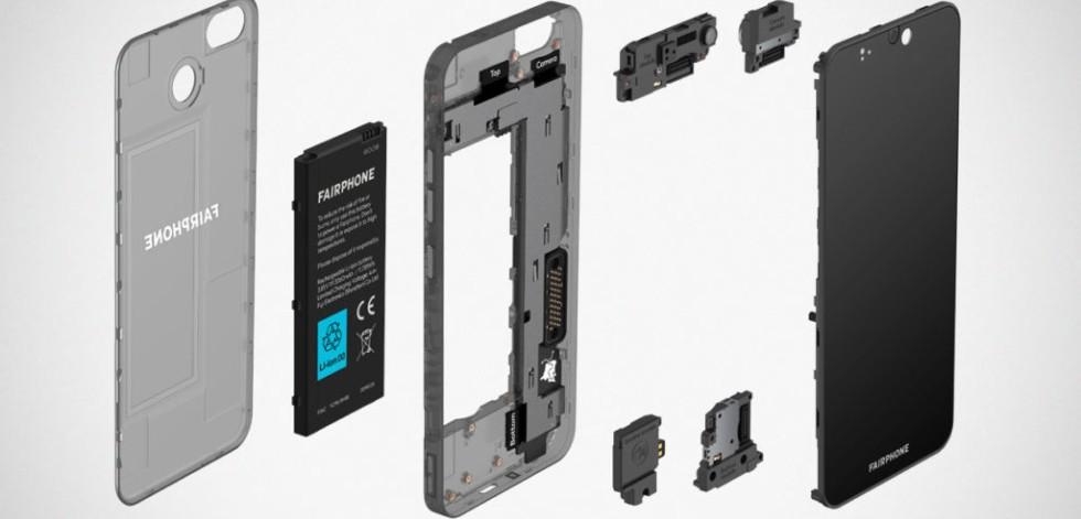 Modular parts of the Fairphone 3