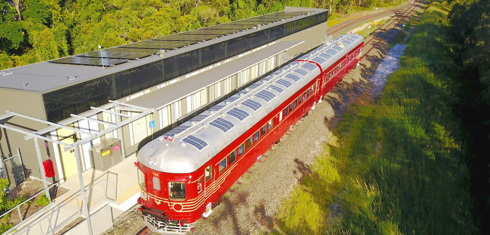 Byron Bay's solar train